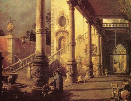 PROSPETTIVA CON PORTICO (Perspective with porch) Giovanni Antonio Canal, detto il Canaletto