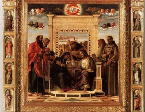 PALA DELL'INCORONAZIONE DELLA VERGINE (Coronation of the Virgin) – Giovanni Bellini