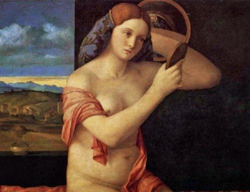 GIOVANE DONNA NUDA ALLO SPECCHIO – Giovanni Bellini