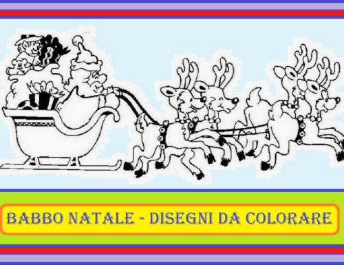 BABBO NATALE – Disegni da colorare
