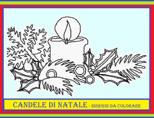 CANDELE DI NATALE – Disegni da colorare