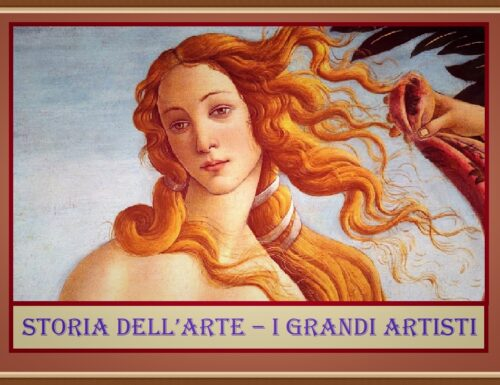 B – STORIA DELL'ARTE- I grandi artisti
