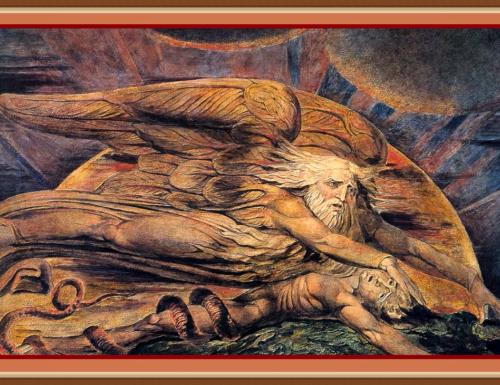 ELOHIM CREATING ADAM – William BLAKE